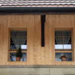 Fensteranschluss mit Holzfutter